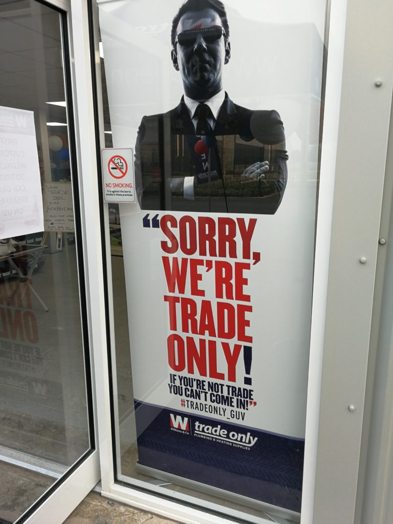Trade Only Poster